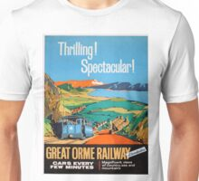 Vintage poster - Great Orme Railway Unisex T-Shirt