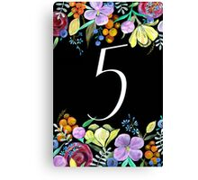 Number 5 Canvas Print