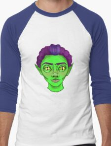 Spooky Alien Girl  Men's Baseball ¾ T-Shirt