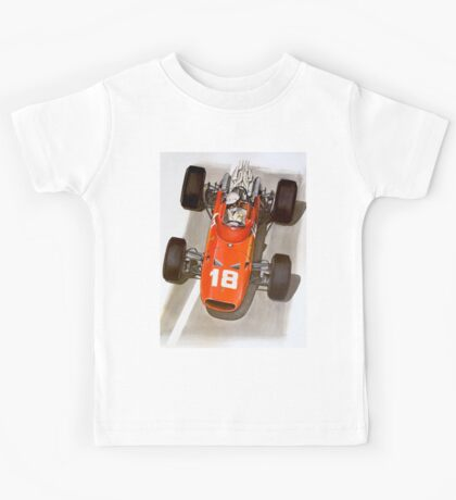 """MONACO GRAND PRIX"" Ferrari Auto Race Print Kids Tee"