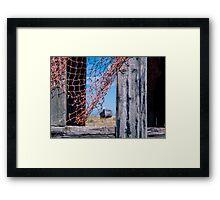 Net gains Framed Print