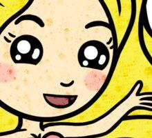 Mermaid - Yellow Hair Sticker