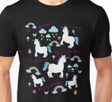 Real Unicorns Have Curves - Unicorn Pattern Unisex T-Shirt