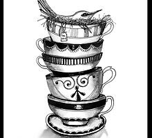 Tea bird by Jenny Wood