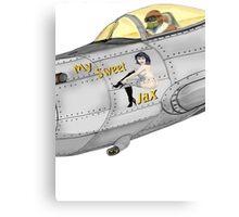 Aircraft nose art My Sweet Jax Canvas Print