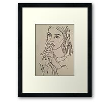 One Continous line drawing  Framed Print