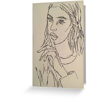 One Continous line drawing  Greeting Card