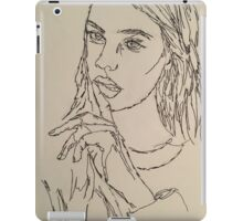 One Continous line drawing  iPad Case/Skin