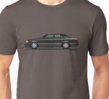 Mercedes Benz 500E W124 Blue-Black Metallic Unisex T-Shirt