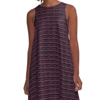Black and Pink Knit A-Line Dress