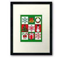 Ugly Christmas Sweater T-Shirt, Tee featuring whimsical holiday graphics Framed Print