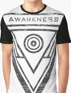 Awareness - Typography and Geometry Graphic T-Shirt