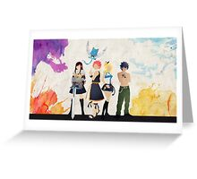 The Protagonists - Fairy Tail  Greeting Card