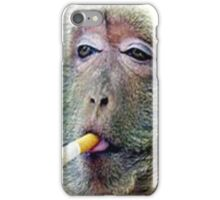 funy monk iPhone Case/Skin
