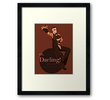 Darling (orange ver.) Framed Print
