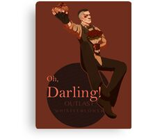 Darling (orange ver.) Canvas Print