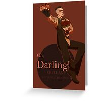 Darling (orange ver.) Greeting Card