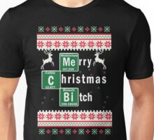 Merry Christmas B*tch, Funny Ugly Christmas Sweater Unisex T-Shirt