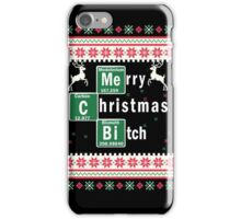 Merry Christmas B*tch, Funny Ugly Christmas Sweater iPhone Case/Skin