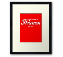 Pokemon Classic in White Framed Print