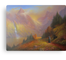 Gandalf and Beorn.(A Chance Encounter) Canvas Print