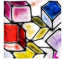 Fractalius cubes Poster