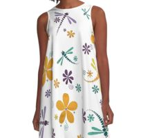 DRAGON FLY GARDEN PARTY A-Line Dress