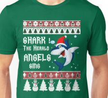 Shark! The Herald Angels Sing- Funny Christmas Sweater Unisex T-Shirt