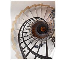Spiral Staircase II, St Stephen's Basilica, Budapest Poster