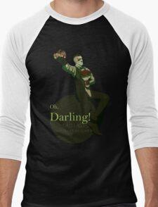 Darling (Green ver.) Men's Baseball ¾ T-Shirt