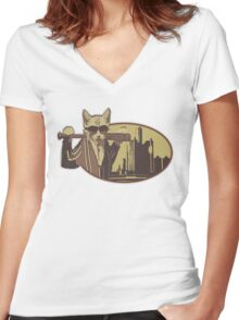 Cat Empire Women's Fitted V-Neck T-Shirt