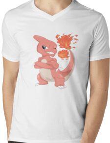 Pokemon-Charmeleon Mens V-Neck T-Shirt