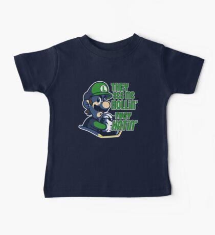 Luigi MK8 - Ridin' Dirty Baby Tee