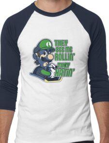 Luigi MK8 - Ridin' Dirty Men's Baseball ¾ T-Shirt