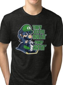 Luigi MK8 - Ridin' Dirty Tri-blend T-Shirt