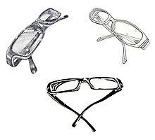 Geek Chic Glasses Photographic Print