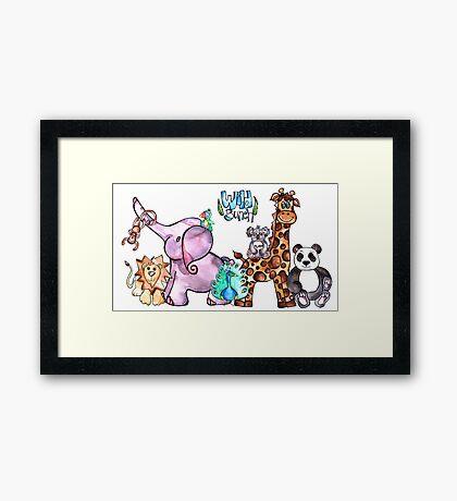Wild Bunch Safari Animals Framed Print