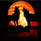 Wolves n Red Moon (12958) by Winona Sharp