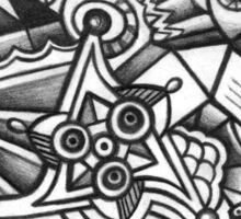 ABSTRACT - Design 009 (B/W) Sticker