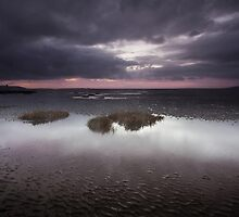 Machynys sunset Llanelli Wales by leightoncollins