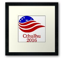 Cthulhu 2016 Presidential Campaign Framed Print