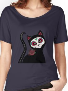 Day of the Dead Cat Women's Relaxed Fit T-Shirt