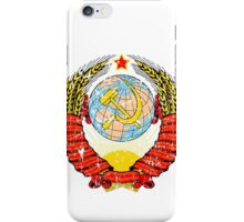 Soviet Coat of Arms - distressed look iPhone Case/Skin