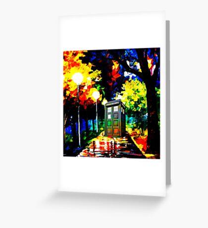 tardis starry night Greeting Card