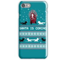 Santa is Coming, Funny Ugly Christmas Sweater, Xmas Gifts iPhone Case/Skin