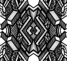 SYMMETRY - Design 010 (B/W) Sticker