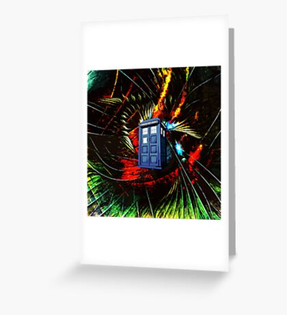 tardis in the mix of art Greeting Card