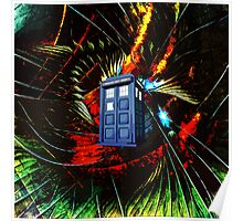 tardis in the mix of art Poster