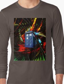 tardis in the mix of art Long Sleeve T-Shirt