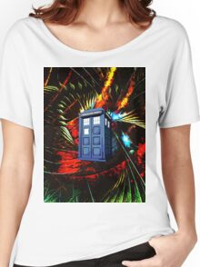 tardis in the mix of art Women's Relaxed Fit T-Shirt